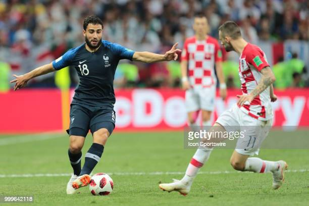 Forward Nabil Fekir of France National team and Midfielder Marcelo Brozovic of Croatia National team during the final match between France and...