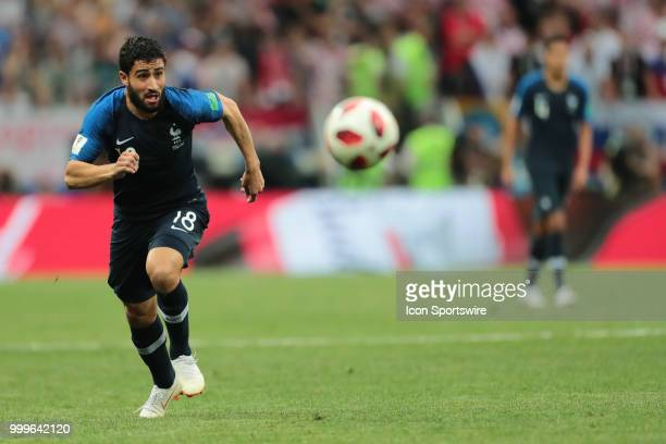 Forward Nabil Fekir of France National team during the final match between France and Croatia at the FIFA World Cup on July 15 2018 at the Luzhniki...