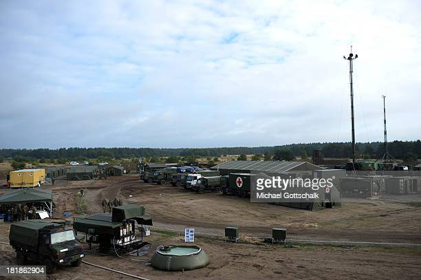 Forward Operating Base during a maneuver of the German Forces Bundeswehr on September 19 2013 in Munster Germany