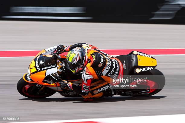 Forward Racing driver Aleix Espargaro of Spain on turn turn18 during practice runs at the Circuit of the Americas in Austin TX