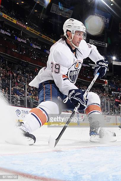 Forward Sam Gagner of the Edmonton Oilers skates against the Columbus Blue Jackets on March 15, 2010 at Nationwide Arena in Columbus, Ohio.
