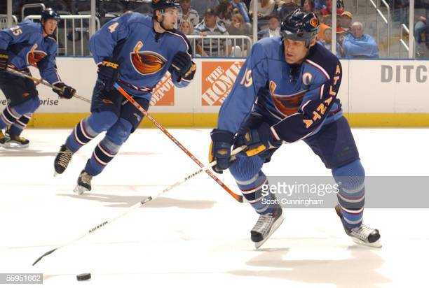 Forward Scott Mellanby of the Atlanta Thrashers skates against the Washington Capitals during their NHL game on October 8 2005 at Philips Arena in...