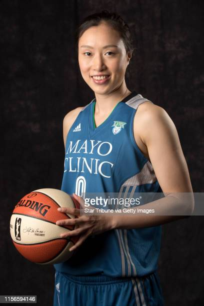 Forward Shao Ting during Minnesota Lynx media day at Mayo Clinic Square Monday May 1 2017 in Minneapolis MN] JERRY HOLT • jerryholt@startribunecom