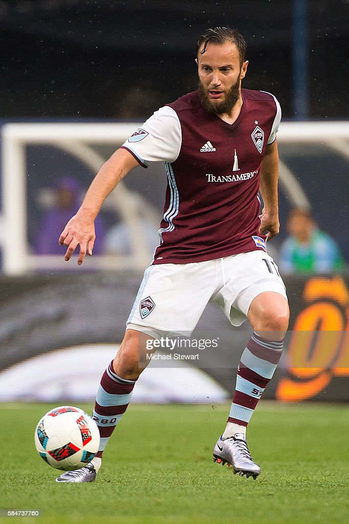 Forward Shkelzen Gashi #11 of Colorado Rapids controls the ball during the match vs New York City FC at Yankee Stadium on July 30, 2016 in New York City. New York City FC defeats Colorado Rapids 5-1.