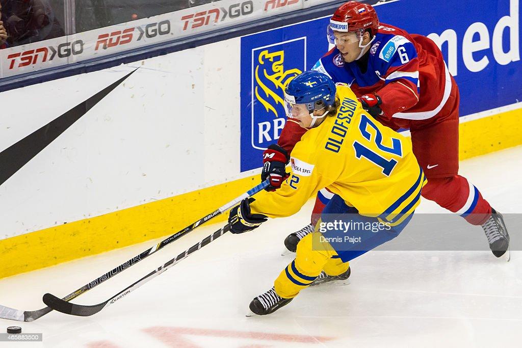 Russia v Sweden - Semifinal - 2015 IIHF World Junior Championship