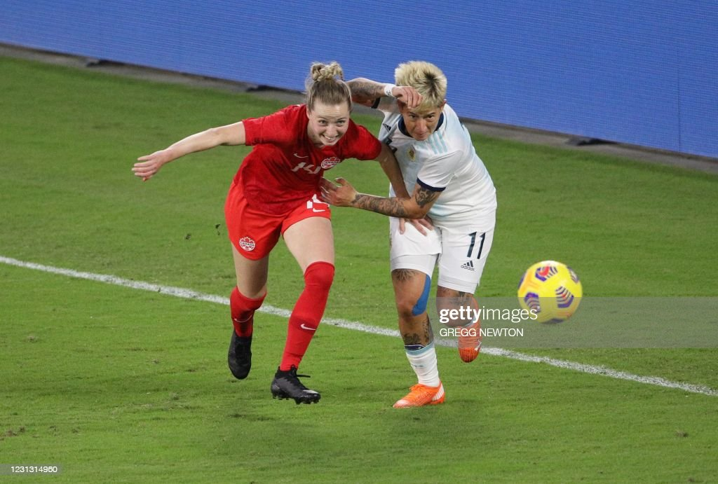 FBL-WOMEN-CANADA-ARGENTINA-SHEBELIEVES : News Photo