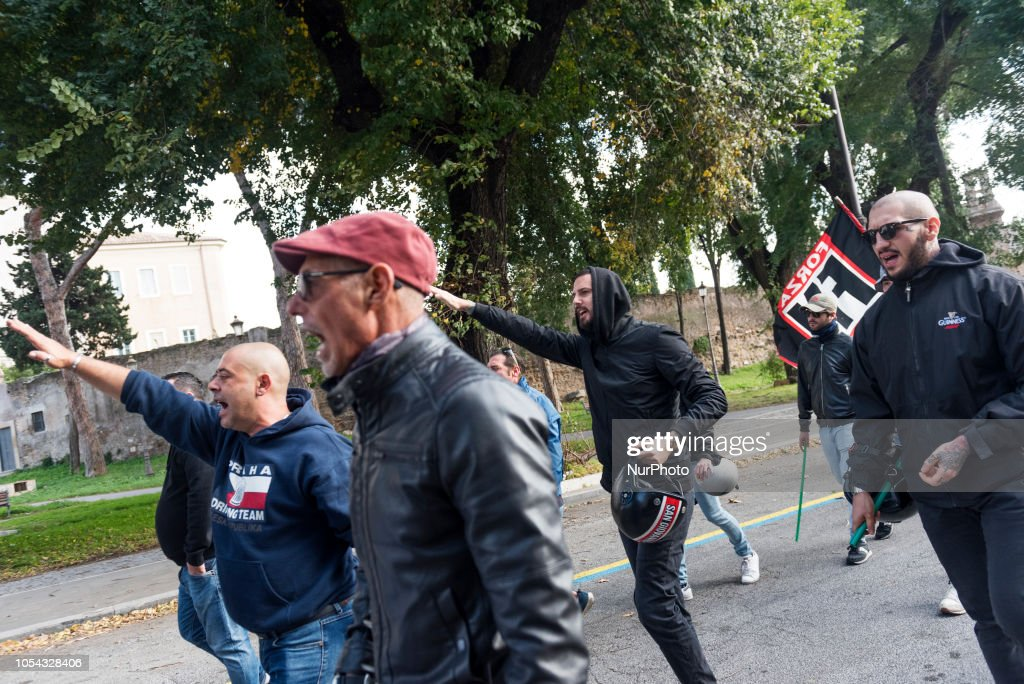 Far-right Group Protest In Rome : News Photo