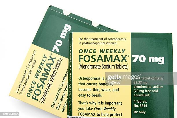 fosamax by merck - osteoporosis stock photos and pictures