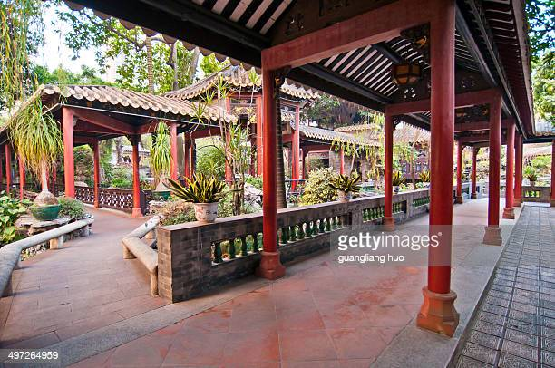 Foshan City Museum of ancient garden architecture Chinese corridor.
