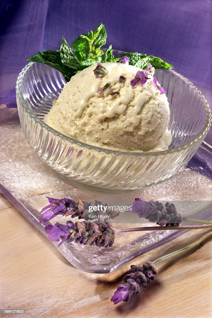 FO.SOS.LAVENDAR.Lavendar ice cream. : News Photo