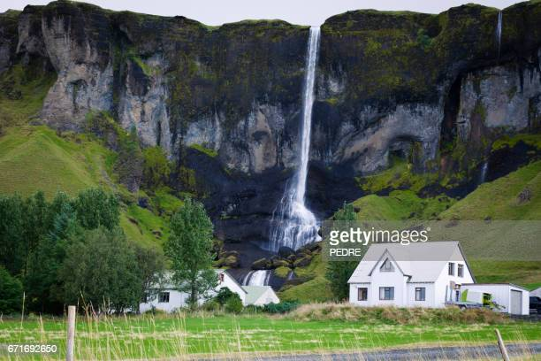 foss a sidu waterfall,iceland - skaftafell national park stock photos and pictures