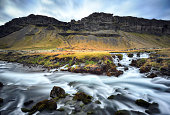 Fossalar waterfall in Iceland