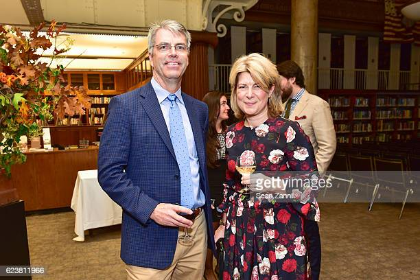 Foster Lyons and Lucy Whitfield attend Ben Pentreath Lecture at the Institute of Classical Architecture Art at General Society Library on November 7...