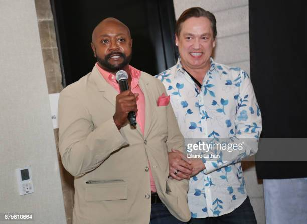 Foster parents Aaron Knight and Ross Smith attend the reveal of the RaiseAChild's 'Reimagine Foster Parents' campaign at NeueHouse Hollywood on May...