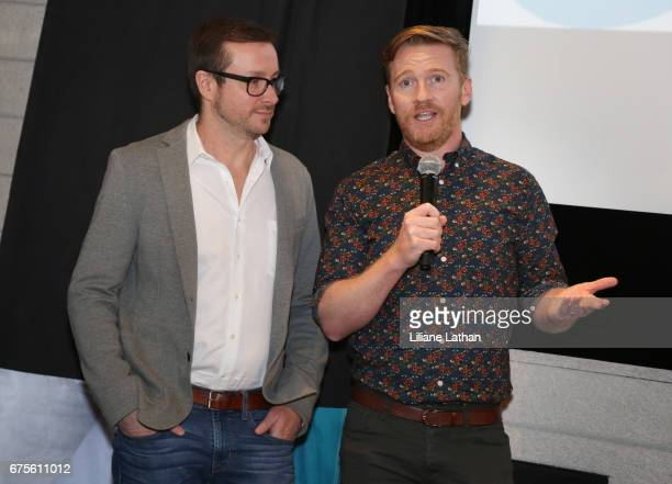 Foster parents Jason Kennedy and Mark Daley attend the reveal of the RaiseAChild's 'Reimagine Foster Parents' campaign at NeueHouse Hollywood on May...