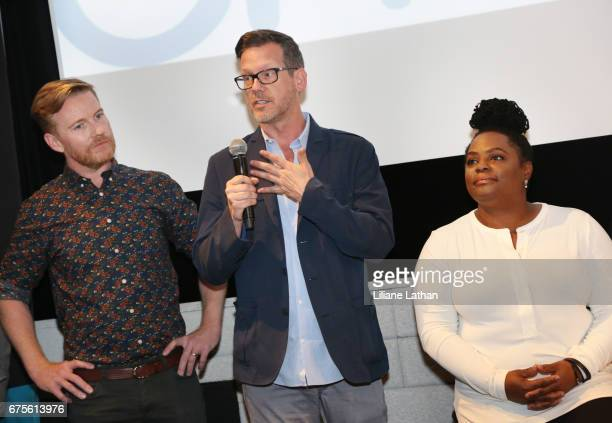 Foster parents Mark Daley Bryant Huddleston and Camille Thornton attend the reveal of the RaiseAChild's 'Reimagine Foster Parents' campaign at...