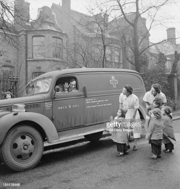 Caring For Displaced Children London England Nurses and children at the 'Foster Parents Plan for War Children' Nursery in Hampstead wave goodbye to...