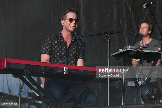 Foster The People perform on stage during weekend two day one of Austin City Limits Music Festival at Zilker Park on October 10 2014 in Austin Texas