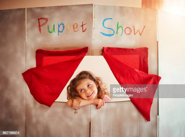 fostering a child's imagination through play - puppet stock pictures, royalty-free photos & images