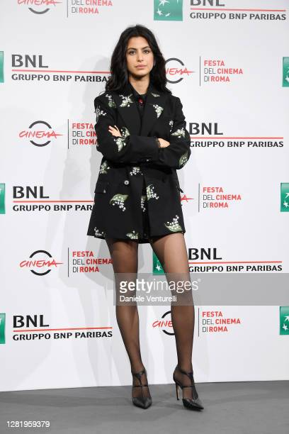 """Fotinì Peluso attends the photocall of the movie """"Cosa Sarà"""" during the 15th Rome Film Festival on October 24, 2020 in Rome, Italy."""