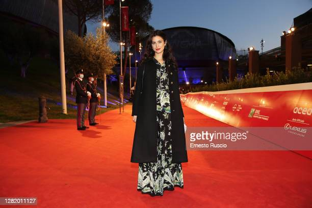 """Fotinì Peluso attends the red carpet of the movie """"Cosa Sarà"""" during the 15th Rome Film Festival on October 24, 2020 in Rome, Italy."""