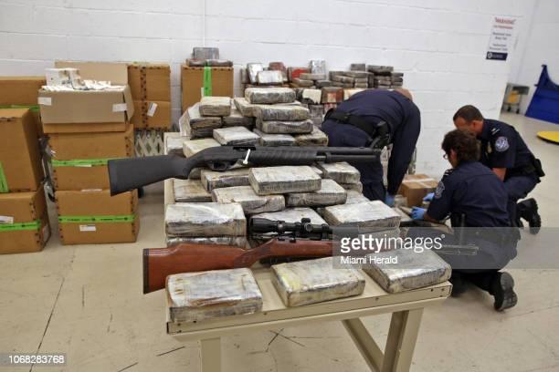 Foto de archivo de un decomiso llevado a cabo por elementos de CBP en Miami-Dade en 2015.