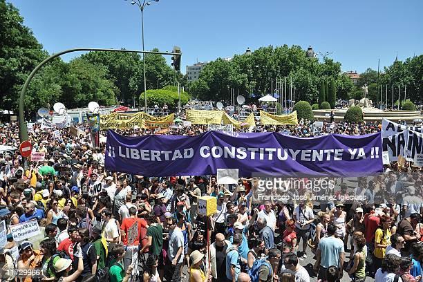 Fotografía de la manifestación del 19J en Madrid convocada por Democracia Real Ya