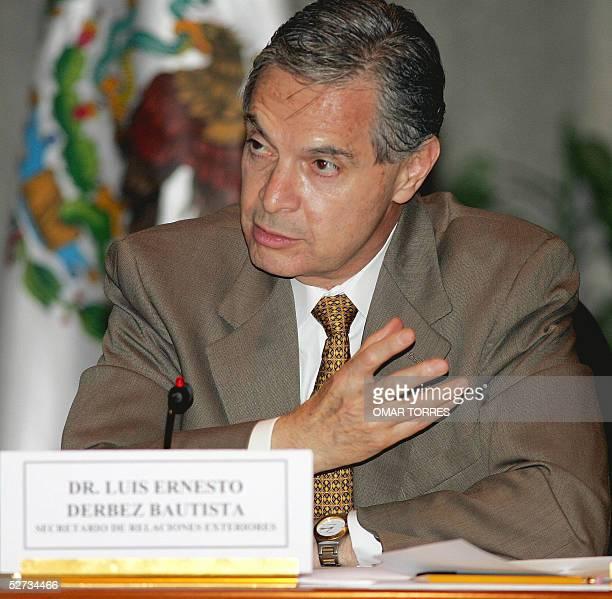 Fotografia del secretario de Relaciones Exteriores de Mexico, Luis Ernesto Derbez tomada en Ciudad de Mexico el 21 de abril de 2005. Derbez retiro el...