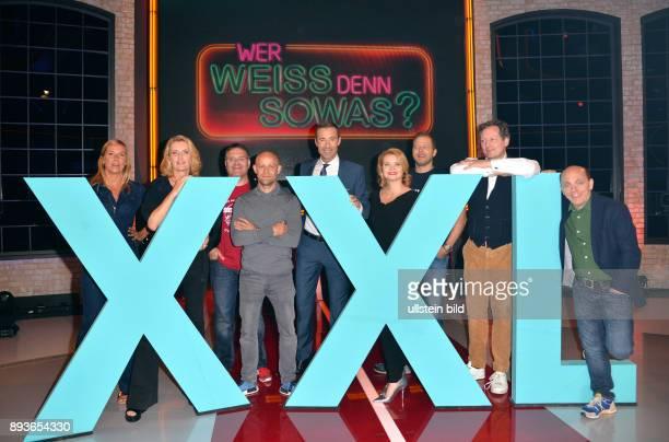 Fototermin 'Wer weiß denn sowas XXL Ð Das unvorstellbare Wissensquiz' mit Kai Pflaume Bernhard Ho'cker und Elton am im Studio Hamburg Atelier A1...