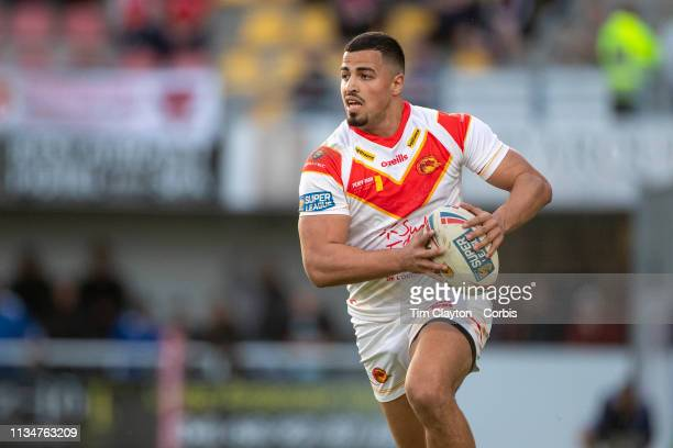 FouadYaha of Catalans Dragons in action during the Catalans Dragons V Salford Red Devils Betfred Super League regular season match at Stade Gilbert...