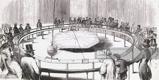 Foucault's experiment with the pendulum proving motion of the earth in the Paris Observatory