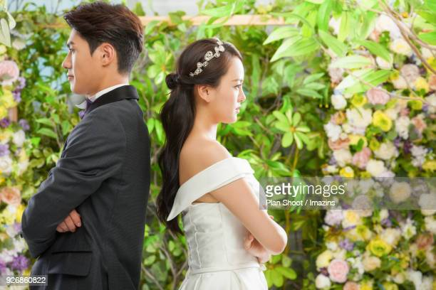 Fought groom and bride