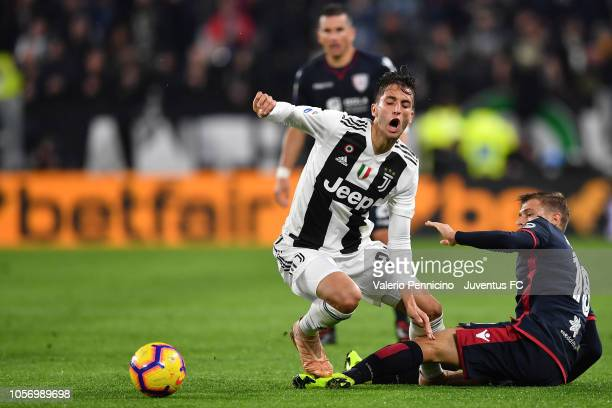 foul on Rodrigo Bentancur of Juventus by Nicolò Barella of Cagliari during the Serie A match between Juventus and Cagliari on November 3 2018 in...