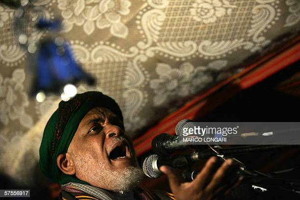 Opposition candidate Ahmed Abdhalla Sambi addresses a crowd of supporters at an evening electoral rally in the southern village of Foumbouni Comoros...
