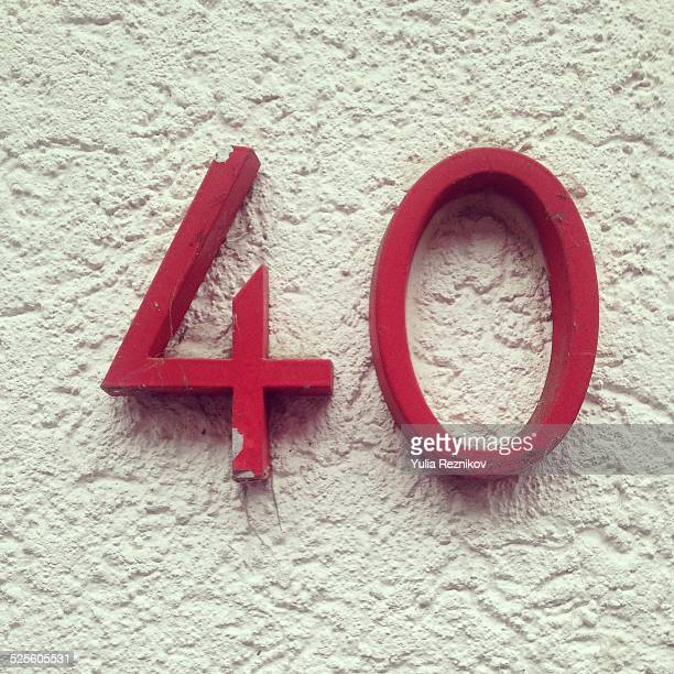 found letters and numbers - number 40 stock photos and pictures