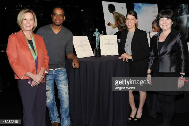 Foundation Board President JoBeth Williams actor Keith Powell actress Mayim Bialik and SAG Foundation executive director Jill Seltzer attend the SAG...