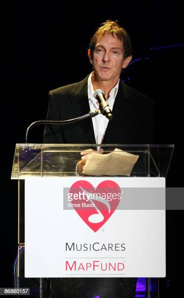 Foundation chairman John Branca speaks at the 5th Annual MusiCares MAP Fund Benefit Concert on May 8 2009 in Los Angeles California The event honored...