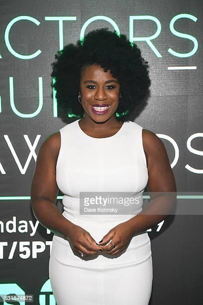 Foundation Conversations Orange Is The New Black screening and QA with Uzo Aduba at SAGAFTRA Foundation Robin Williams Center on January 12 2017 in...