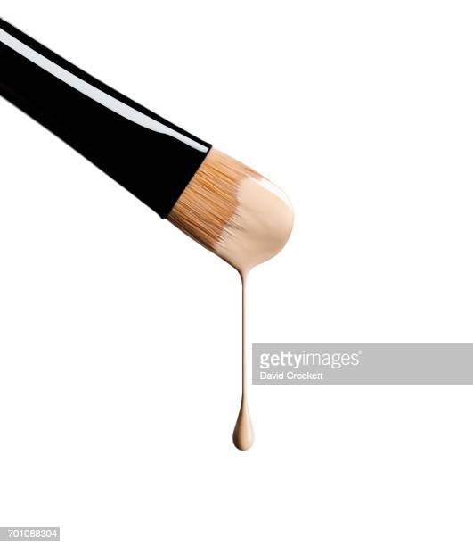 Foundation dripping off make-up brush