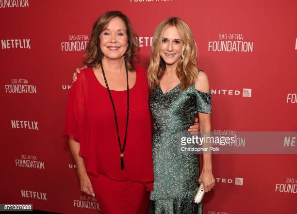 Foundation Executive Director Cyd Wilson and Holly Hunter attend the SAGAFTRA Foundation Patron of the Artists Awards 2017 at the Wallis Annenberg...