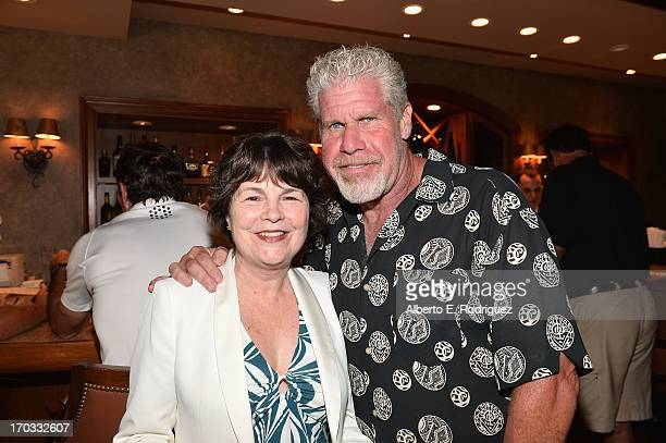 Foundation Executive Director Jill Seltzer and actor Ron Perlman attend the Screen Actors Guild Foundation 4th Annual Los Angeles Golf Classic at...