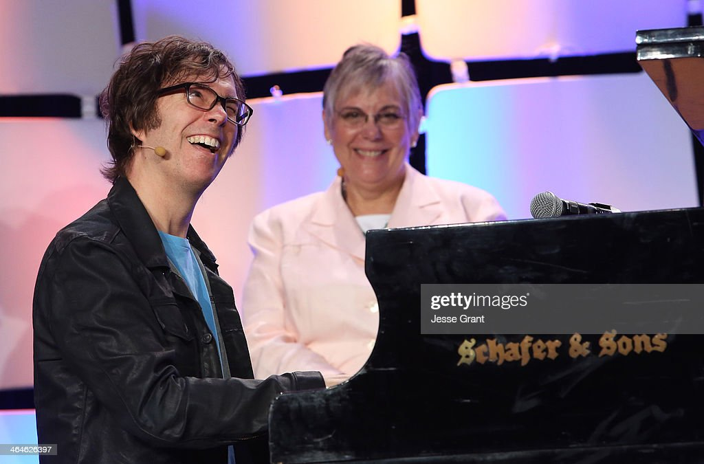 Foundation Executive Director Mary Luehrsen and msuician Ben Folds attend day one of the 2014 National Association of Music Merchants show at the Anaheim Convention Center on January 23, 2014 in Anaheim, California.
