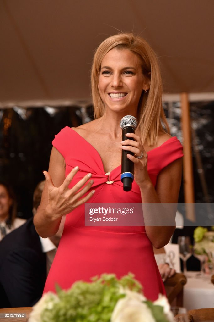 GOOD+ Foundation founder and president Jessica Seinfeld speaks to guests during The GOOD+ Foundation's Hamptons Summer Dinner co-hosted by NET-A-PORTER on July 29, 2017 in East Hampton, New York.