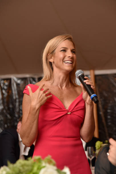 aec7281b500 GOOD+ Foundation founder and president Jessica Seinfeld speaks to guests  during The GOOD+ Foundation s Hamptons Summer