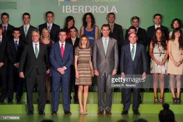 Foundation Iberdrola President Manuel Marin Spain's Minister of Industry Energy and Tourism Jose Manuel Soria Princess Letizia of Spain Prince Felipe...