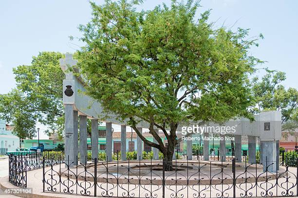 Foundation monument of Santa Clara city in Cuba Each column represent a founding family Legend says it was under the shade of a tamarind tree where...
