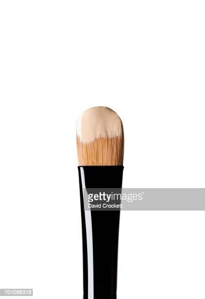 Foundation on make-up brush