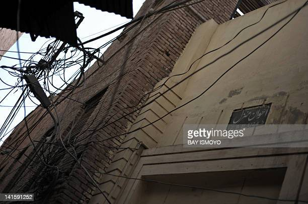A foundation stone dating a dilapidated building to 1724 is seen in the old town section of Multan on March 17 2012 Multan one of the oldest cities...