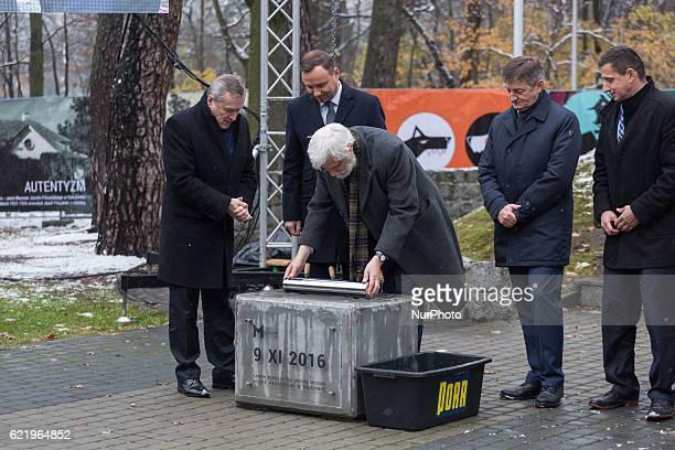 Foundation Stone Laying Ceremony forJozef Pilsudski museum inSulejowek Poland on 9 November 2016