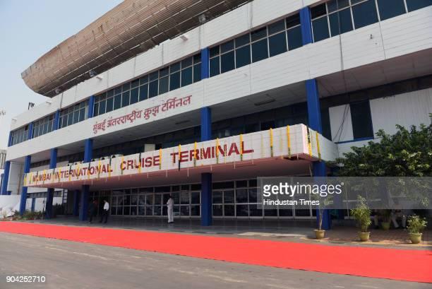 Foundation Stone Laying Ceremony of New International Cruise Terminal at BPX Cruise Terminal Indira Dock on January 11 2018 in Mumbai India